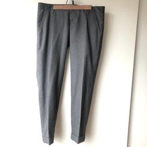 DSQUARED2 Cropped Low Rise Wool Trousers